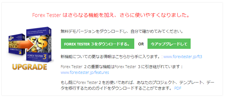 ForexTester無料デモ