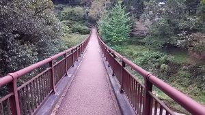 石船橋を渡っているところ