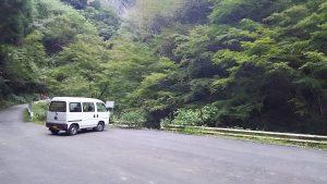 神戸岩の駐車場