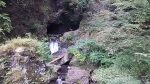 神戸岩を遠くから見たところ